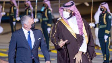 الملك عبد الله والأمير محمد